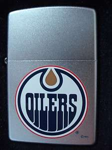 CLASSIC VINTAGE EDMONTON OILERS NHL HOCKEY TEAM LOGO ZIPPO LIGHTER