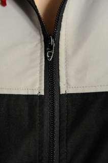Serac Grey Black Ski Jacket Size M Hood Cold Weather