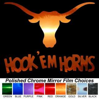 Texas Longhorns UT Bevo Metallic Auto Car Truck Window Sticker Decals