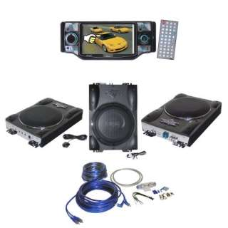 Lanzar Car, Van, Truck DVD Player and Amplified Subwoofer Package