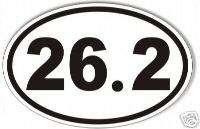 26.2 oval marathon sticker,decal, running, runner,
