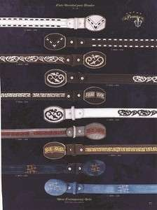 Premier Mens Leather Contemporary Belts w/ Fashion Design Diff