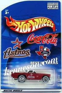 57 T Bird Astros Coca Cola #1 Ford Texas Hot Wheels