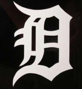 Detroit D Vinyl Decal Sticker Old English Tigers 11BIG