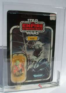 YODA VINTAGE 1980 Kenner Star Wars ESB 32 Back AFA EX+ MOC UP Carded