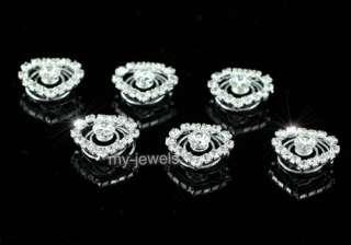 pcs X Bridal Wedding Crystal Heart Hair Twists P1139