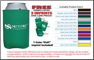 50 CAN COOLERS SCREEN PRINTED Koozie Drink Beer Custom