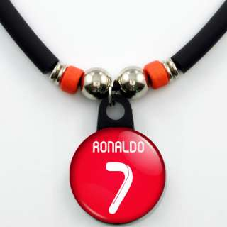 Ronaldo #7 Real Madrid 2011 12 Red Jersey Necklace, NEW