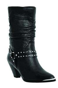 dingo EMMA PIGSKIN BLACK Womens Boot DI 650