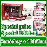 FUJI INSTAX MINI POLAROID CAMERA 7s WHITE + 100 FILMS