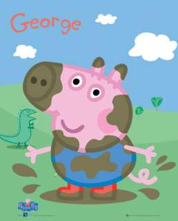 Peppa Pigs Brother George Close Up Poster 20x16 NEW