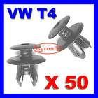 VW T4 T5 TRANSPORTER INTERIOR TRIM PANEL CLIPS X 50 BLA