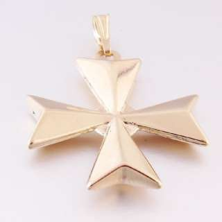 Malta Maltese Cross 18ct 18k Hallmarked Pendant