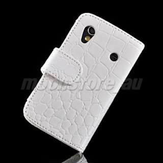 CROCODILE LEATHER FLIP POUCH CASE COVER FOR SAMSUNG S5830