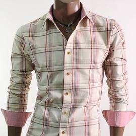 Camicia linea Slim strana beige 52