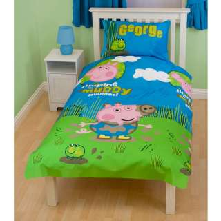 Peppa Pig George Puddles Duvet Cover New (FOC P+P)