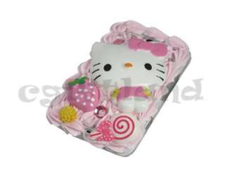 Hello Kitty Pink Cream Strawberry Case Cover For HTC Chacha Cha Cha