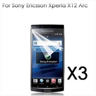 3X Protector Pantalla Para Sony Ericsson XPERIA Arc X12