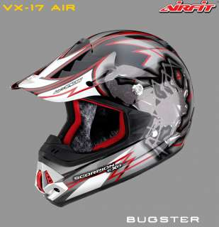 CASQUE SCORPION CROSS VX 17 AIR BUGSTER ROUGE NOIRE M