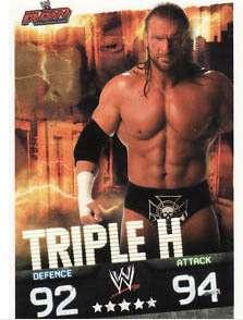 WWE Slam Attax Evolution   Triple H Raw Card