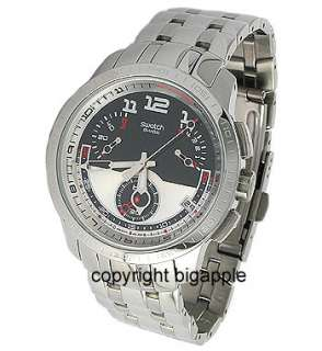 YRS406G Black/white Round Dial Silver Stainless steel Mens Watch