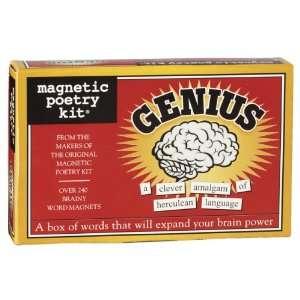 Genius Magnetic Poetry Kit (9781890560614): Magnetic