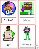 36 VISUAL TIMETABLE CARDS   great for SEN   RESOURCE