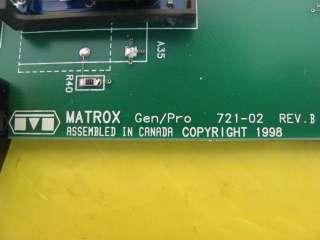 Matrox Gen/Pro Interface PCB Board 721 02 Rev. B Working GP60/F/64/F