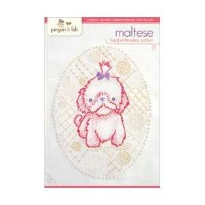 Penguin and Fish Embroidery Patterns Maltese; 3 Items