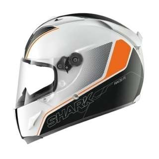 SHARK RACE R PRO STINGER MOTORCYCLE CRASH HELMET LARGE WHITE/BLACK