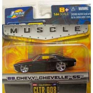 Jada Big Time Muscle Black 1969 Chevy Chevelle SS 1:64