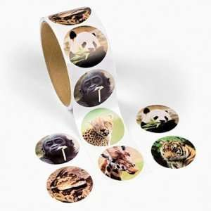 100 Zoo Animal Roll Stickers, 1 Roll Toys & Games
