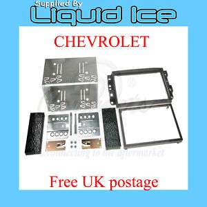 Chevrolet Kalos Double Din Fascia Facia Panel Adaptor Surround Kit CD