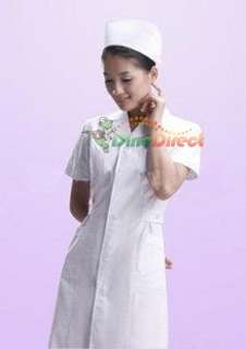Wholesale Nurse Hospital Medical Uniforms Short Sleeve Duty Dress