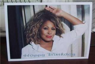 Tina Turner Personalised Birthday Greeting Card T8