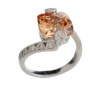 Tacori IV Diamonique Epiphany Champagne Crescent Ring   QVC