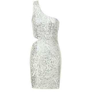 Lipsy one shoulder cut out sequin dress. The ultimate party dress