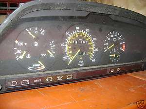 MERCEDES W126 SEL,SE 300 DASH CLOCKS