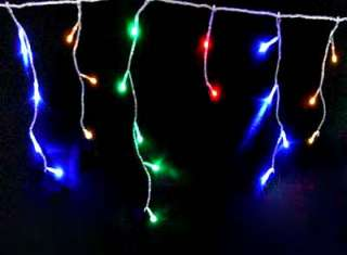 35M 600 LED CHRISTMAS ICICLE LIGHT Memory Multi colored