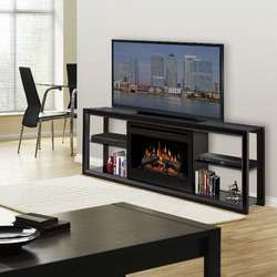 Fox 48 TV Stand with Electric Fireplace in Weathered Oak   DTO9140F