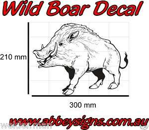 Wild Boar, Pig, Hog, Razorback vinyl Sticker Decal
