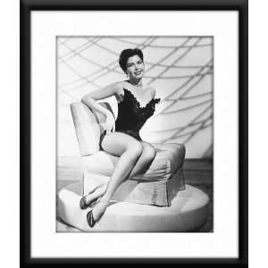 Ann Miller Framed And Matted 8x10 B&W Photo (Legs Crossed):