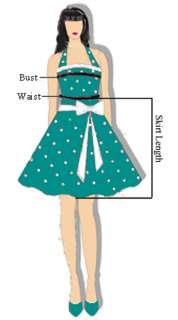 50s Vintage Style Rock Dance rockabilly Costume Dress