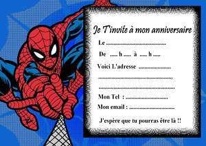 Carte D Anniversaire Gratuite A Imprimer Spiderman