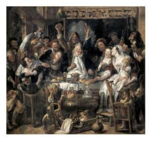 Drinks Giclee Poster Print by Jacob Jordaens, 16x16: Home & Kitchen