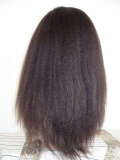 18 Kinky Straight India Remy Human Hair Lace Wigs #1b