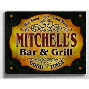 Mitchells Bar & Grill 14 x 11 Collectible Stretched