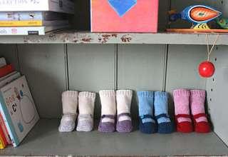 hand knit baby socks by mini mcghee