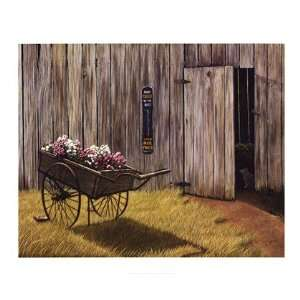 The Flower Cart by William Bradford Green 34x28:  Kitchen