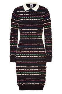 Black/Multicolor Patterned Knit Dress by MISSONI M